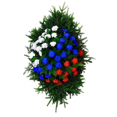 Венок из живых цветов №3335