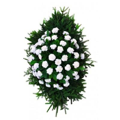 Венок из живых цветов №3236