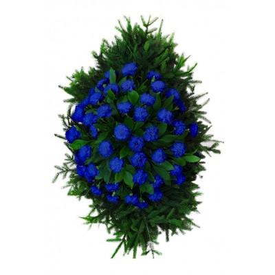 Венок из живых цветов №3337