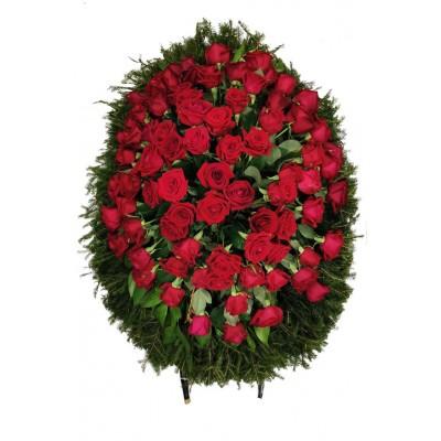 Венок из живых цветов №3038