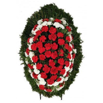 Венок из живых цветов №3039