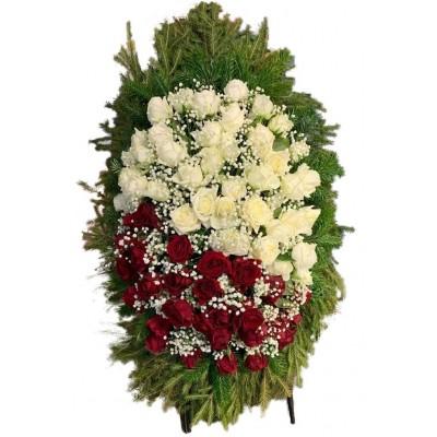 Венок из живых цветов №3123