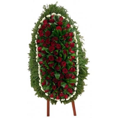 Венок ритуальный из живых цветов №3145