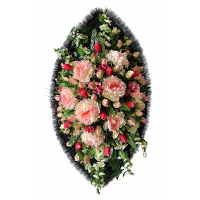 Венок из искусственных цветов №4140