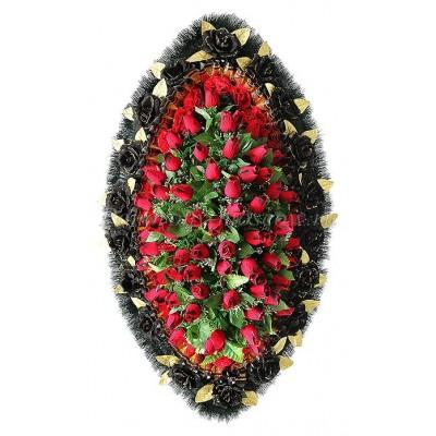 Венок из искусственных цветов №4141