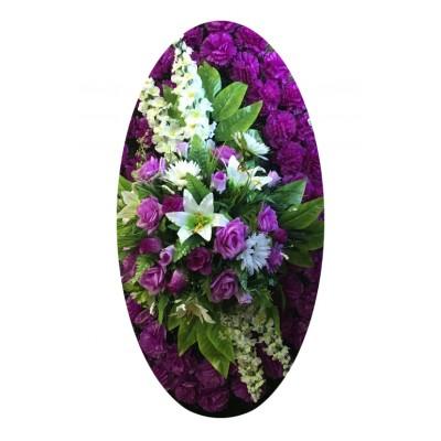 Венок из искусственных цветов №4043