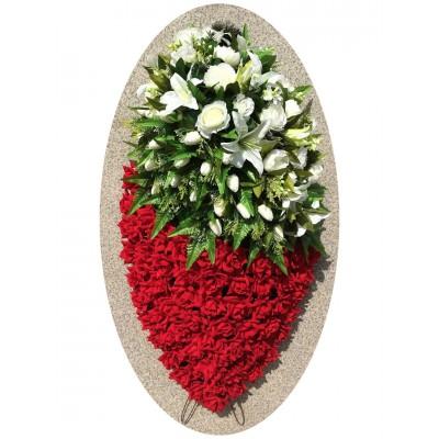 Венок из искусственных цветов №4244