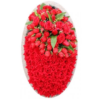 Венок ритуальный из искусственных цветов №4245