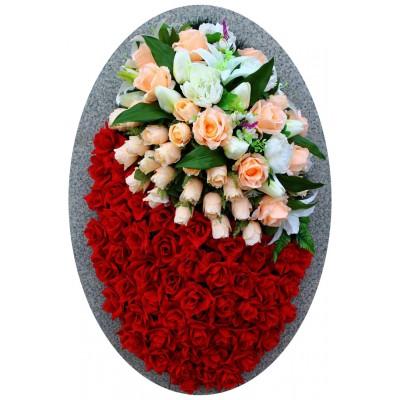 Венок из искусственных цветов №4246
