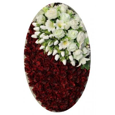 Венок из искусственных цветов №4047