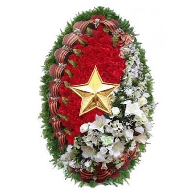 Венок на похороны из искусственных цветов №4248