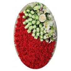 Венок из искусственных цветов №4049