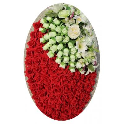 Венок из искусственных цветов №4149