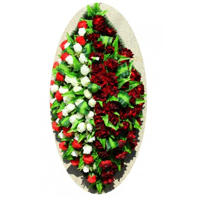 Венок из искусственных цветов №4150