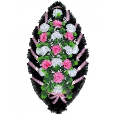Венок из искусственных цветов №4251
