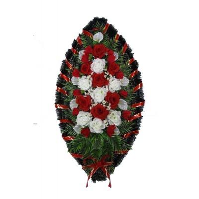 Венок траурный из искусственных цветов №4211