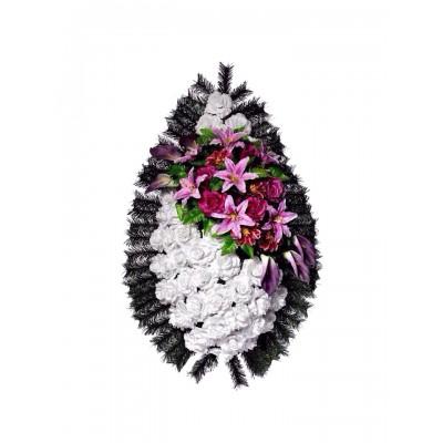 Венок из искусственных цветов №4112