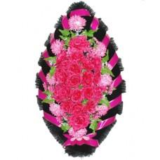 Венок из искусственных цветов №4213