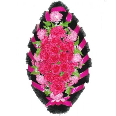 Венок из искусственных цветов №4013