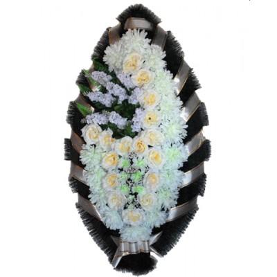 Венок из искусственных цветов №4014