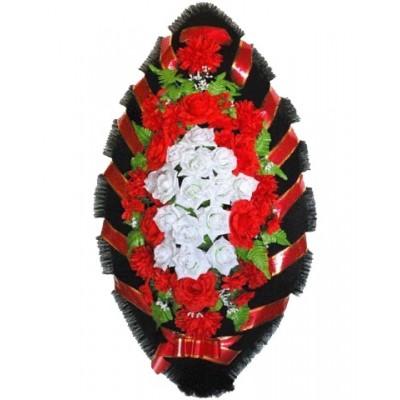 Венок из искусственных цветов №4015
