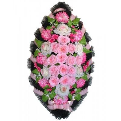 Венок из искусственных цветов №4216