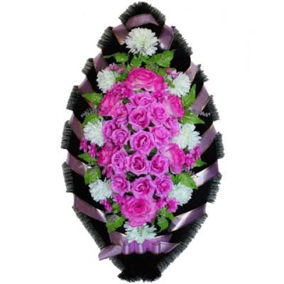Венок из искусственных цветов №4217