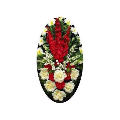 Венок из искусственных цветов №4218