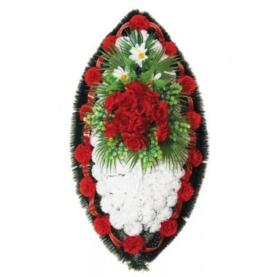Венок траурный из искусственных цветов №4023