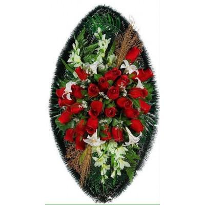 Венок из искусственных цветов №4124