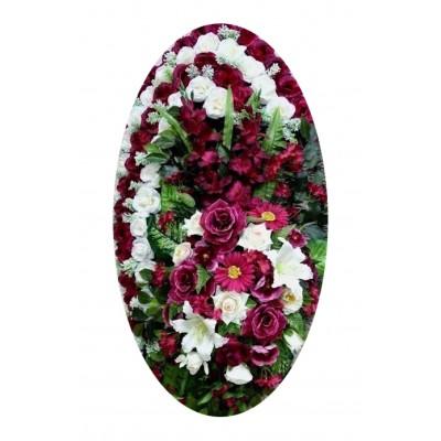 Венок из искусственных цветов №4027