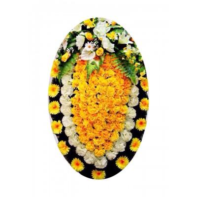 Венок из искусственных цветов №4028