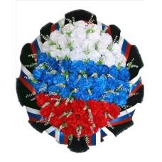 Венок из искусственных цветов Триколор №7507