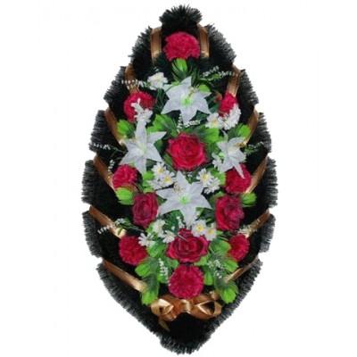 Венок из искусственных цветов №4003