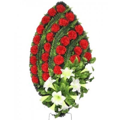 Венок из искусственных цветов №4130