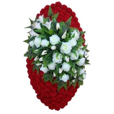 Венок ритуальный из искусственных цветов №4031