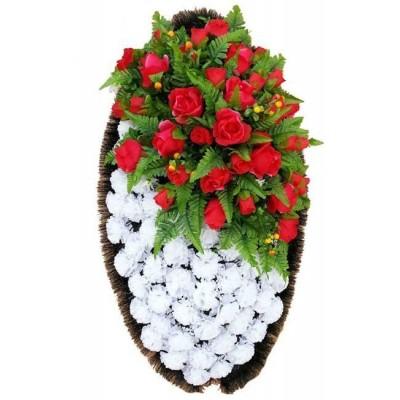 Венок из искусственных цветов №4232