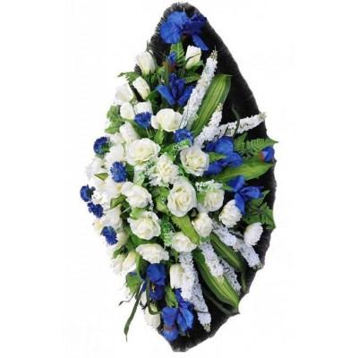 Венок траурный из искусственных цветов №4033