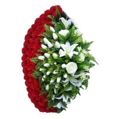 Венок из искусственных цветов №4034