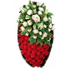 Венок из искусственных цветов №4235