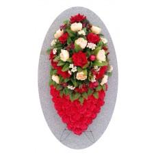 Венок из искусственных цветов №4237