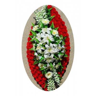 Венок из искусственных цветов №4238