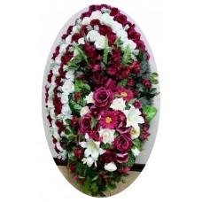 Венок из искусственных цветов №4009
