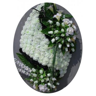 Венок ритуальный из искусственных цветов №4021