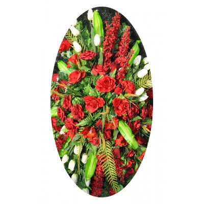 Венок из искусственных цветов №4129