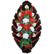 Венок из искусственных цветов №4005