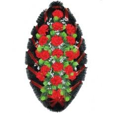 Венок из искусственных цветов №4207