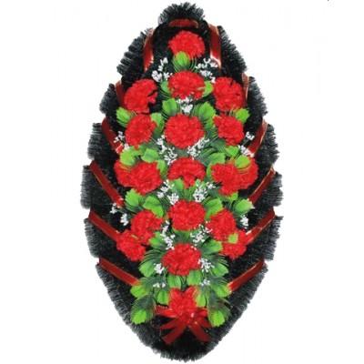 Венок на похороны из искусственных цветов №4007