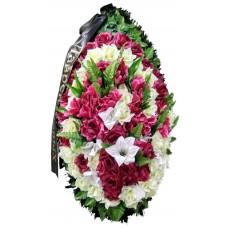 Венок траурный из искусственных цветов №4152