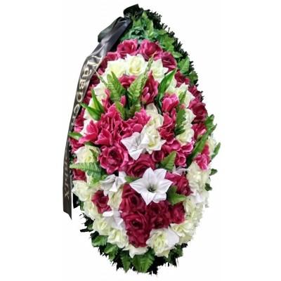 Венок траурный из искусственных цветов №4052